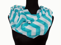Wholesale 10pcs Fashion Wide Chevron Wave Print Circle Scarf Loop Infinity Ladies Scarves