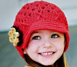 Wholesale - Hand Crochet Baby Flower Hat, Spring Knitted Girls' Flower Cap, Handmade Baby Hat, Kids Infant Beani