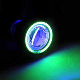 Wholesale Best Sale HID Bi Xenon Motorcycle Projector Lens Kit H7 H1 H4 Green Angel Eye Blue Devil Eye lighting headlight