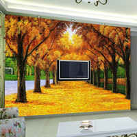 Wholesale Gold tv wall entranceway sofa background wall decoration mural g0043