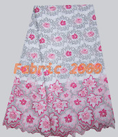 Wholesale african lace fabric big heavy elegant swiss voile cotton lace for party amp wedding retail yards pc SWF