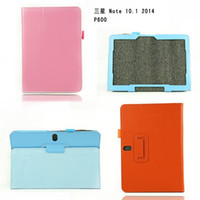 10.1'' P600 folio leather cover - Folio Sleep Wake Up Slim Litchi PU Leather Cover Stand Flip Case With Pen Holder For Samsung Galaxy Note Edition SM P600 P601