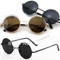 Wholesale 2014 New Vintage Tortoise Frame Lens Retro Round Sunglasses Eyeglasses Glasses