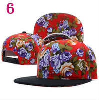 Wholesale NEW Hundreds floral Snapback Cap Men Basketball Hip Pop Baseball Cap Adjustable Flower Snapback hat