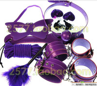 Wrist & Ankle Cuffs adult sex mask - ctory Outlet Value Package Sex toys flirting Adult games Sex furniture feather Small whip Cotton rope Eye mask Bondage Tied Handcuffs plush