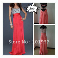 Wholesale custom made real sample sexy pink sweetheart rhinestone beaded chiffon evening gown name brand prom dresses LF17809