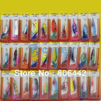 Wholesale Cheap Kinds of Feather Plastic Fishing Lures Crankbaits Hooks Minnow Baits Tackle TK0807