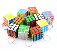 5-7 Years magic toys - Mini x3x3 x3 Key Chain Puzzle Magic Game Toy Key Keychain