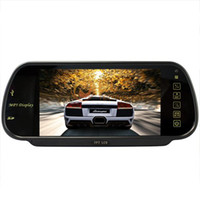 MP3/MP4 Players, FM Transmitter, MP3 Pla Black CM30005 7 Inch MP5 SD USB Player FM Remote Controller Rearview Mirror Car Monitor