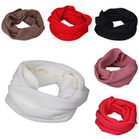 Wholesale Unisex Knitting Cotton Scarves Long Infinity Snood Warm Winter Wraps Scarf Circle Neckerchief DOO