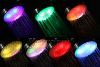 Wholesale Neverland Handheld Colors Automatic Changing LED Head Shower Nozzle Bathroom