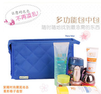 Wholesale EMS FREE cosmetic bag red black women fashion bag tote bag hand bag party bag travel bag Imitate cloth makeup accessories bag