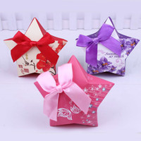 Wholesale Dia cm Pink Purple Red Love Star Decorative Paper Box Wedding Candy Box Gift Wrap CK051