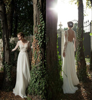 Wholesale - Berta Winter 2014 Sheer Wedding Dresses Long Sle...