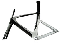 Wholesale TT framd and fork high quality pearl white color painted carbon fiber road bike frame and fork CM