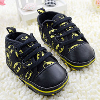 Wholesale Small Childrens Shoes M Infant Baby First Walker Shoes Cartoon Batman Toddler Shoes Sneaker Size pair QZ443