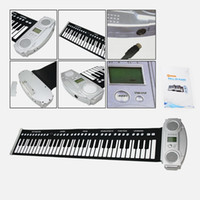 Wholesale Roll Up Soft Portable Electronic Piano Keyboard Keys YW