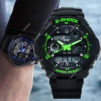 Men's led watches - S5Q Multi Function Military S Shock Sports Watch LED Analog Digital Waterproof Alarm AAACSR