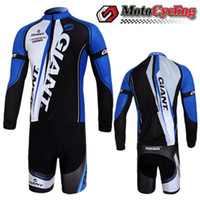 bacteria clothes - Giant Cycling Jersey Set Bike Team Jersey Long Sleeve Brand Cycling Clothing and Flexible Cycling Shorts Anti bacteria Bike Riding Jerseys