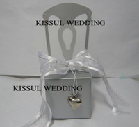 Favor Boxes Silver Paper Wedding boxes of Miniature Silver Chair wedding Favor Box 100pcs lot including all accessories the same as real photo showes FB2022 Kissul