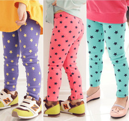 Wholesale Hot sale Baby girls candy color cotton leggings point star pants dress leggings colors