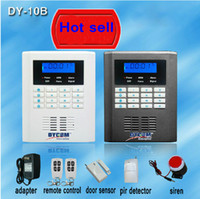 Wholesale DY GSM10B zone wireless zone and wired Quad Band LCD home security PSTN GSM alarm system MHZ