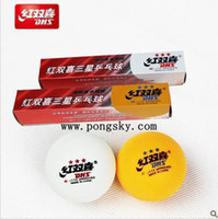 Wholesale china New Olympic game DHS Table tennis ball star ping pong balls each pack have balls