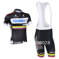 Wholesale 2013 colombia Team cycling jersey cycling clothing cycling wear short Bib Pantscolombia C00S