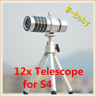 Wholesale x optical zoom Telescope camera lens for Samsung GALAXY S4 i9500 with tripod case