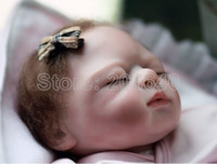 13-24 Months Unisex White reborn baby girl doll reborn doll baby girl silicone baby doll reborn baby, hand made, real baby skin pose, 52cm in length