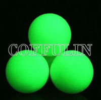 Wholesale Flsorescence Balls Glow In Dark Golf Ball Absorb Sunlight In Stock