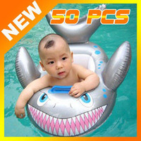 Child Silicone  Wholesale - free shipping 50pcs Baby Kids Water Pool Swim Ring Seat Float Boat Swimming Aid Tube With Wheel Toy