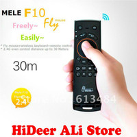 Wholesale Mele F10 Flying Mouse Air Mouse And Keyboard Remote Controller Three In One For Android TV Use MK808 MK802 UG802