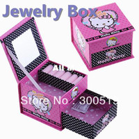 Wholesale B026 Two layers Girls Paper Material Lovely storage box jewelry Box makeup box