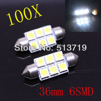Wholesale mm SMD LED Festoon Dome Car Light door Lamp instrument Bulb pathway lighting White V