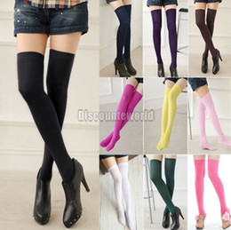 Wholesale 10pcs Colorful Fashion Sexy Womens Over Knee Thigh High Stockings Socks fx209