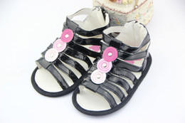 Wholesale Female baby sandals Summer female baby fashion sandals Decorative buttons baby sandals KTJ X0068