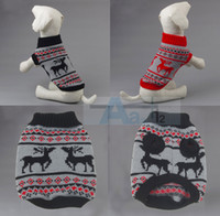 Wholesale Dog Pet Sweater Coat Clothes Multi color Aran Knit Soft Cozy D6