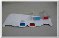 Wholesale Fedex Free D glasses red and blue designed white paper or colorful paper D Glasses D stereo glasses Certified quality