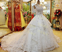 A-Line rhinestone applique - Gorgeous Scoop Neck Ball Gown Wedding Dresses With Rhinestone Beads Crystals Beaded Applique Backless Wedding Gowns