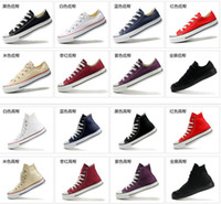 Wholesale 2014 Drop Shipping size35 New Unisex Low Top High Top Adult Women s Men s Canvas Shoes colors Laced Up Casual Shoes Sneaker shoes