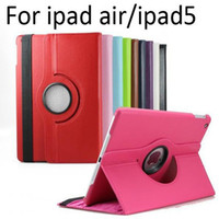 Wholesale Rotating Case For iPad Air Degree Rotary Stand PU Leather Cover Cases For iPad Air Colors Sale
