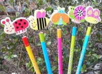 Wholesale Cartoon pencils childrens toys and gifts mixed pencils with erasers hot sale Korean style