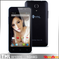 THL 4.5 Android THL W100s Android 4.2 SmartPhone MTK6589 MTK6582 Quad Core 1.2GHz 4.5'' Screen 13MP Camera With Flip case cell pho