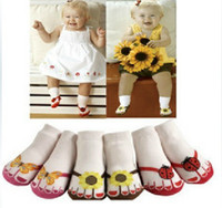 Wholesale 2014 The new Unisex Baby Kids Toddler socks Shoes Slipper Baby Boat socks YFF