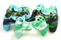 New Arrival PS4 Silicone Camouflage Protective Skin Skidproo...