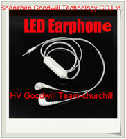 Cell Phones studio flash - LED growing flash earphone ear hook with mic shiny led earphone for mobile phone and tablet PC from churchill
