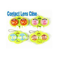 Wholesale OF023 New Big Shape Bees and Butterfly Contact Lens Case Lenses Box Color Cute Contact lens case Cartoon Glasses box