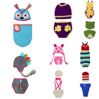 Unisex Summer Crochet Hats Baby 2014 New Style Boy Girl Crochet Knitted Hats Beanie Aminal Costume Set For Photo Props Fit 0-6 Months