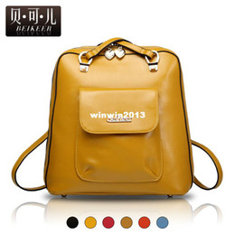Wholesale 2013 women s backpack handbag one shoulder dual use fashion bags vintage PU preppy style